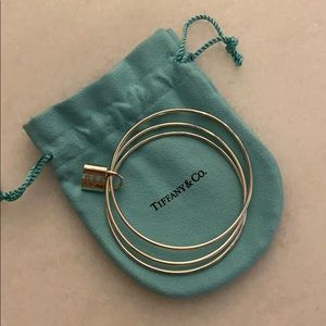 Tiffany's 3 bangle bracelet with lock